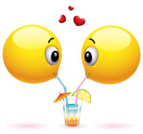 Emoticons Sharing a Drink | Smileys, Smiley faces and Emojis  Emoticons Shari...
