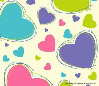 Fondos de corazones para imprimir-Imagenes y dibujos para imprimir