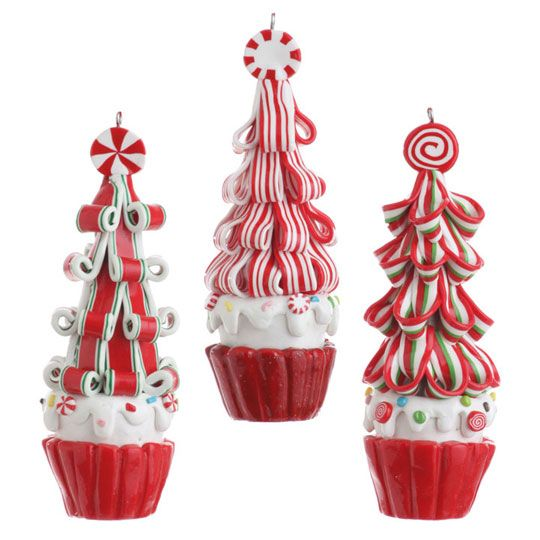 RAZ Cookie Confection 5 inch Ribbon Candy Tree Cupcakes  shelley b home and holiday