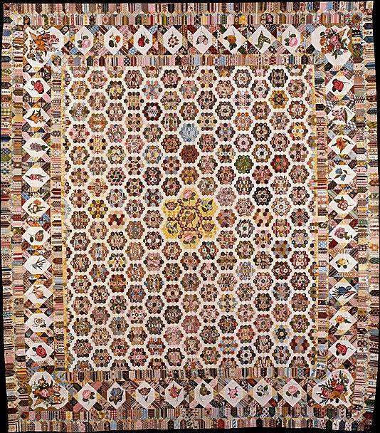 English hexagon quilt