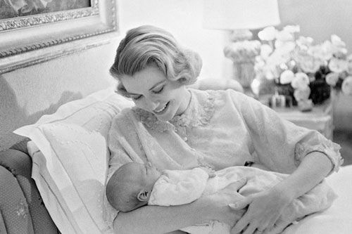 In line with the rules of succession,Princess Caroline ceded the position,, of heiress to the throne of Monaco, to her brother following his birth on 14 March, 1958. Princess  Grace adored her little prince who was named Albert Alexandre Louis Pierre.           		       		        		                                                                                  Special moment...