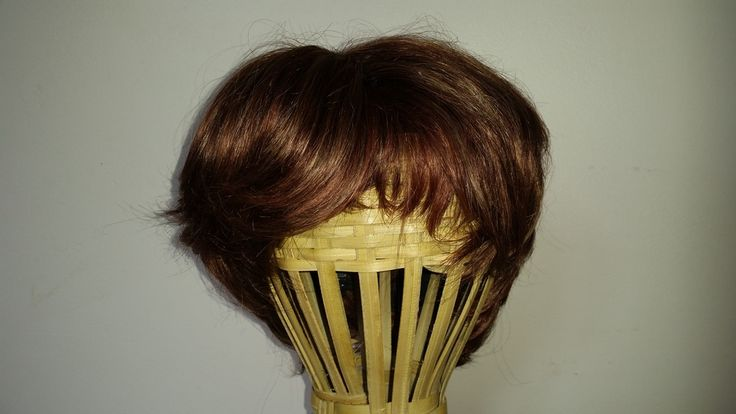 Perruque cheveux naturels courts Noir Auburn via AfrikaShop. Click on the image to see more!