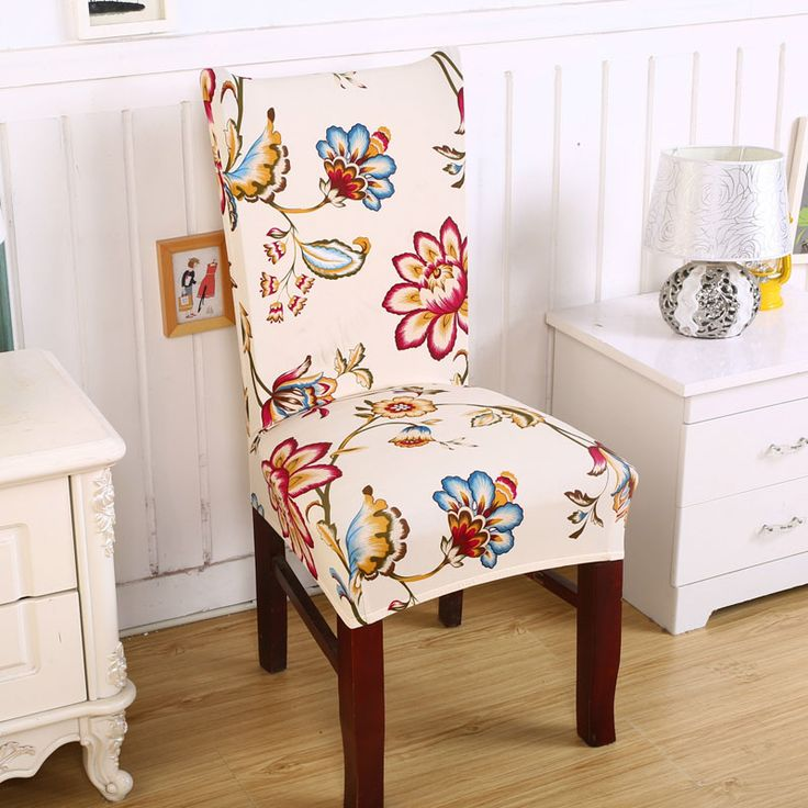new funda silla comedor office chair covers funda asiento de silla couvre chaise Flowers chair cover