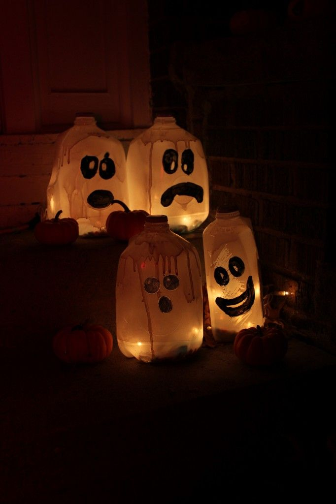milk jug ghost - Milk Carton Halloween Ghosts