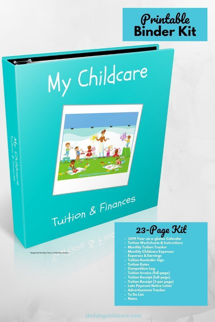 Our New My Childcare Tuition Finances Binder Kit Was Designed To Help Keep The Childcare Provider S Money Mat Childcare Childcare Business Childcare Provider