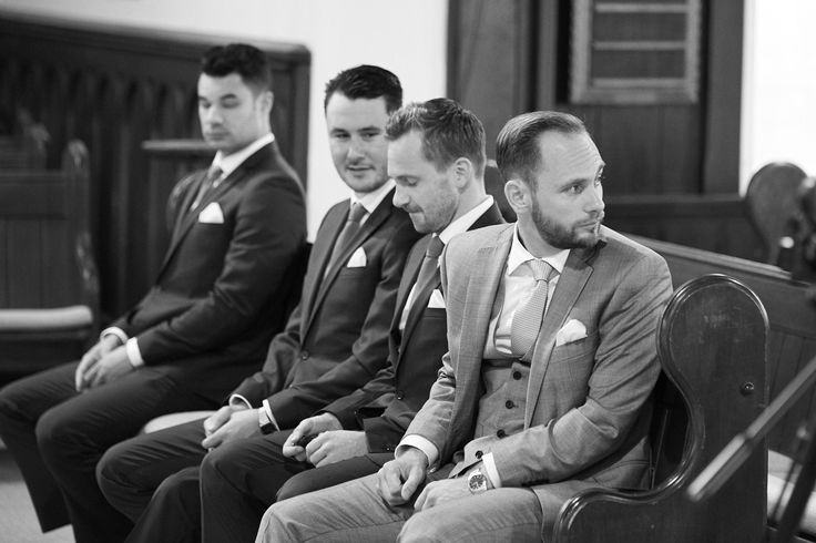 Waiting groom. Captured by Adam Popovic Photography.