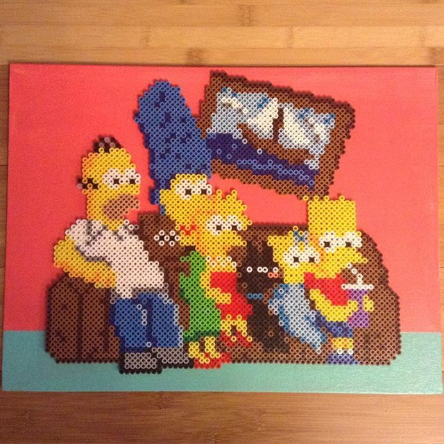 The Simpsons perler beads by caseylcarr