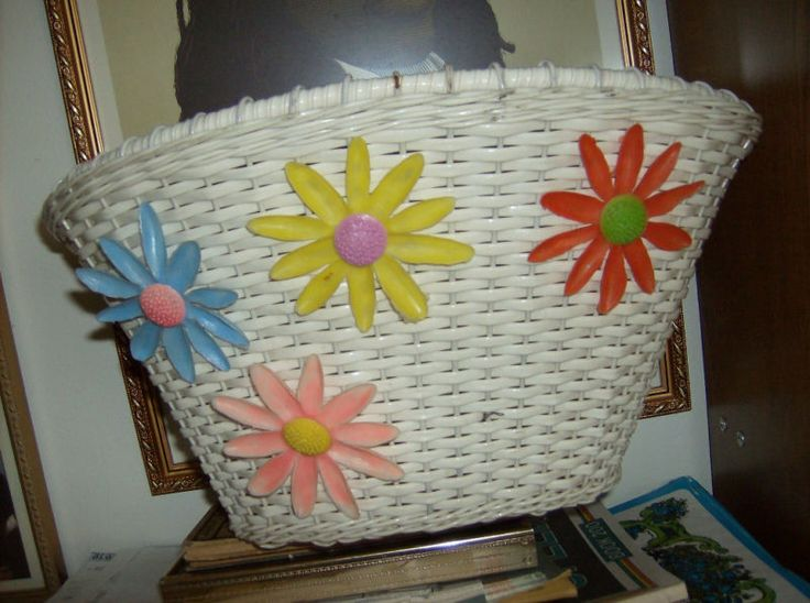 Bike basket - I had this!!!  Along with plastic streamers hanging from the handle bars and a bright orange flag on the back of the bike!!!!