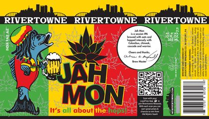 mybeerbuzz.com - Bringing Good Beers & Good People Together...: Rivertowne Brewing - Jah Mon Session IPA Cans