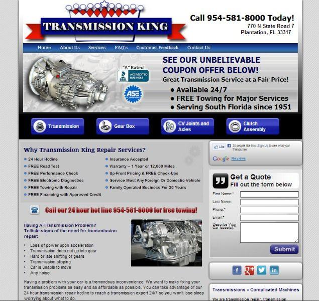 transmissionKing website