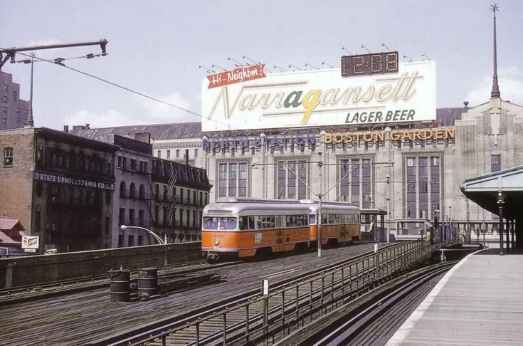 Boston Garden With Neat Beer Billboard On Roof 1958