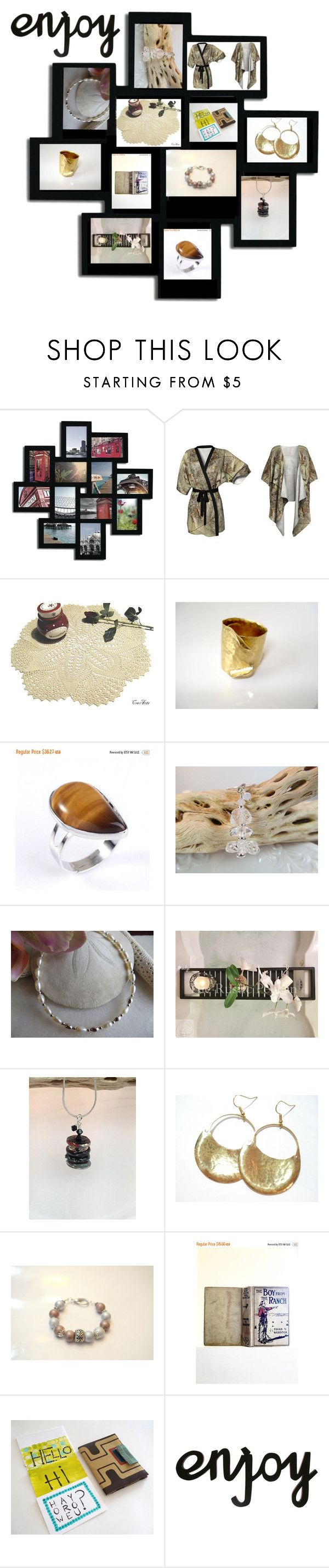 """""""Gifts for her, Christmas  gifts, statement jewelry, fine jewelry, Gold jewelry, Rustic, Farmhouse decor"""" by therusticpelican ❤ liked on Polyvore featuring Adeco and rustic"""