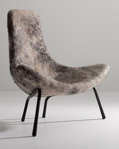 Rapa Felt Chair by Ayala Serfaty of Aqua Creations