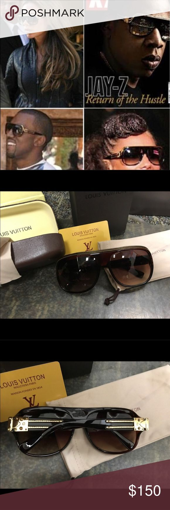 LV Millionaire sunglasses Comes with box, auth card, cleaning cloth, soft and hard case! Price reflective please ask any questions before purchase. 😎 NEW Louis Vuitton Accessories Sunglasses