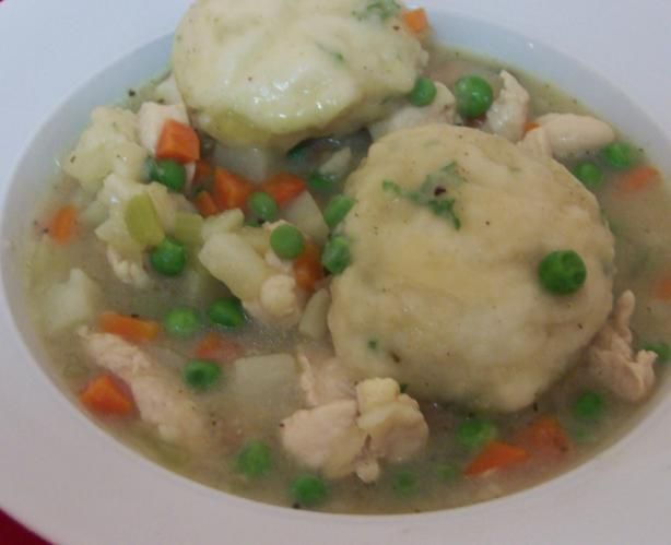 Rachael Ray's Chicken & Dumplings is so easy and good.