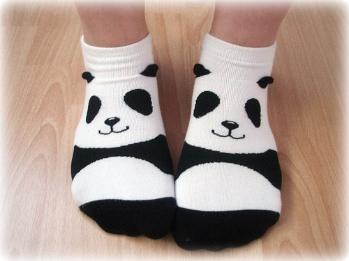 Panda socks!!! These are so cool!