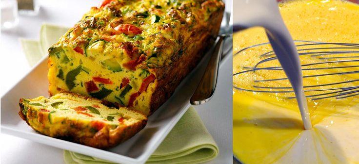 Κέϊκ Ομελέτας με λαχανικά