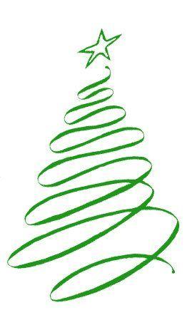 christmas ribbon clip art | and Holidays, Christmas Tree - Christmas Tree - Postcards - christmas ...