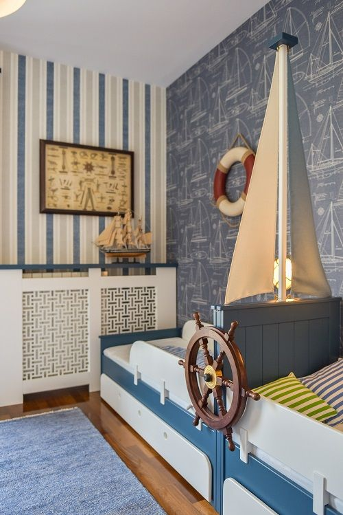 Marine themed kids room |KiwiStudio | Design contemporan si New Scandinavian pentru apartament mare