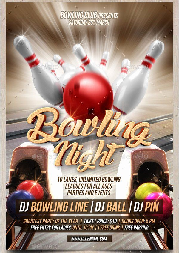 Bowling Flyer Template Free Unique 27 Bowling Flyer Templates Psd Ai Eps Vector Format Flyer Template Fundraiser Flyer Flyer