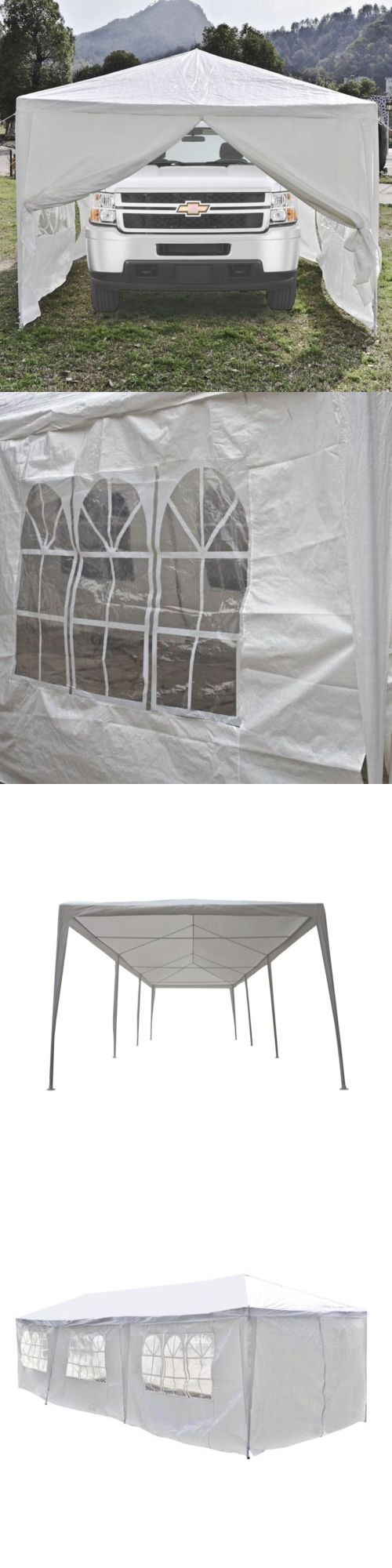 Lancaster pa prefab 2 car garage and 2 story garage manufacturer gears - Marquees And Tents 180994 Aleko Portable Garage Carport Car Shelter Partytent 30 X 10 Ft