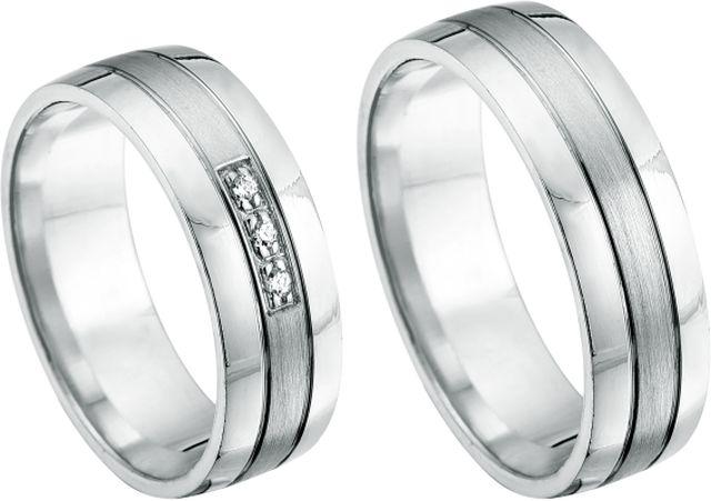 Witgouden ringen met diamanten of zirkonia