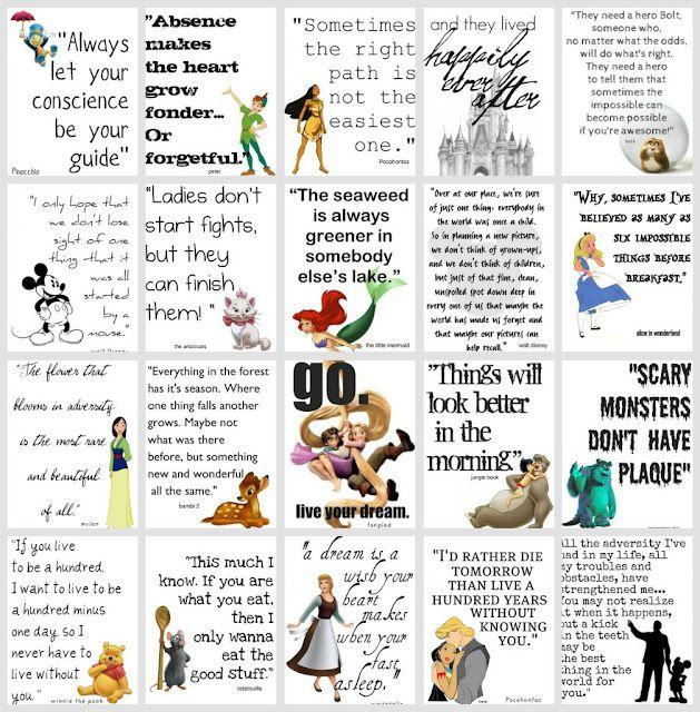 Disney quotes.