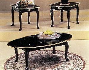 3 PIECE BLACK FINISH COFFEE TABLE SET QUEEN ANNE - Click image twice for more info & 83 best Coffee Tables Set images on Pinterest | Living room set ...