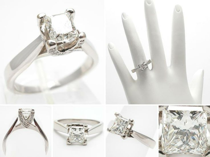 Best  Stage Diamond Princess Cut Engagement Rings And Diamond Wedding Bands