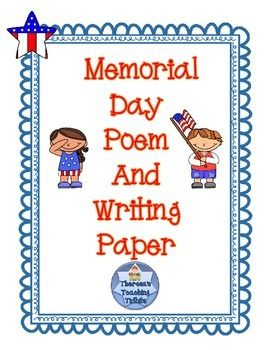 FREEBIE! This poem will help you to explain the reason for celebrating Memorial Day. I've also included a page for an open-ended writing activity.