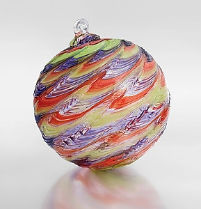 """Bargello"" Art Glass Ornament Created by Britt Pedicord $38"