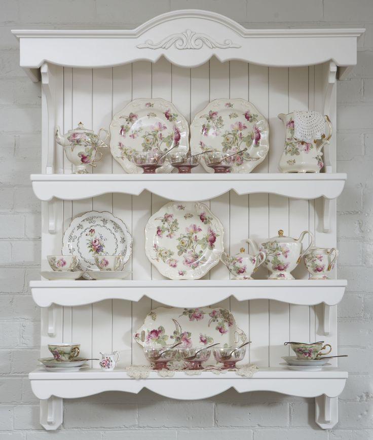 Pretty china shelves.