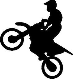 dirt bike silhouette vector - Google Search