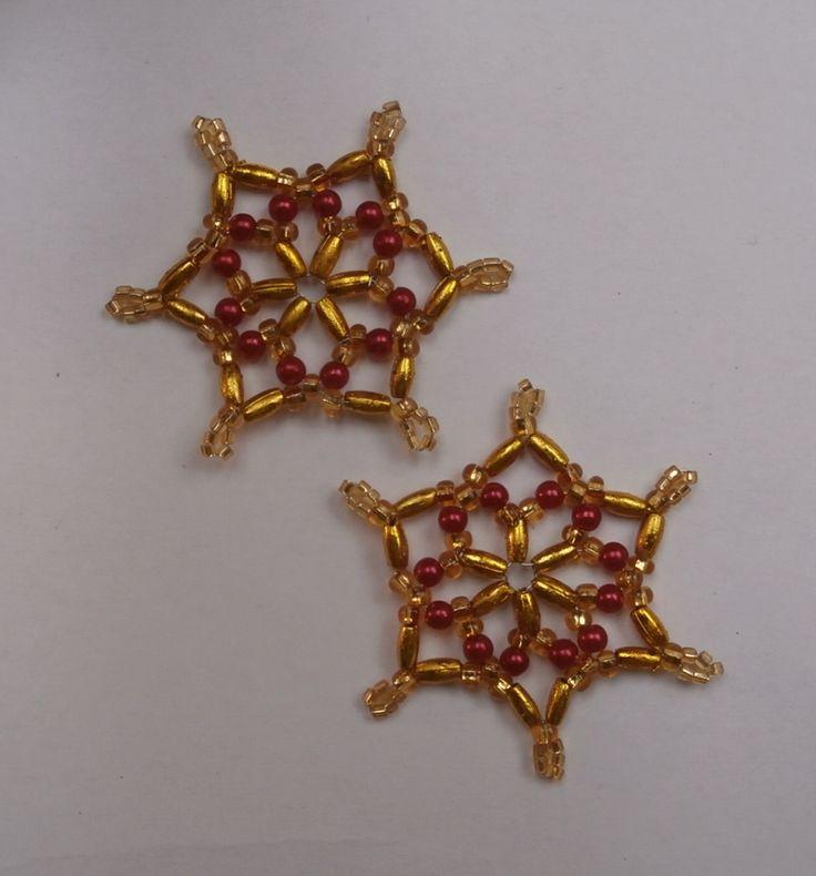 Korálkové hvězdy, malé řervenožlutozlaté bez kostry