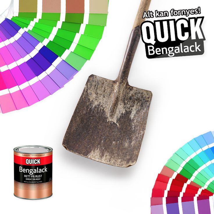 Rett på rust kan selvfølgelig også blandes i akkurat den fargen du vil. :) Her kan fantasien løpe løpsk. Hvilken farge ville du malt denne spaden i?   #diy #interiør #bengalack #quickbengalack