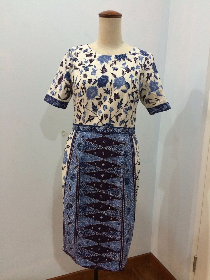 Batari dress made from batik sarung tulis Cirebon. Dress is made by Dongengan (Facebook: https://m.facebook.com/dongengan)