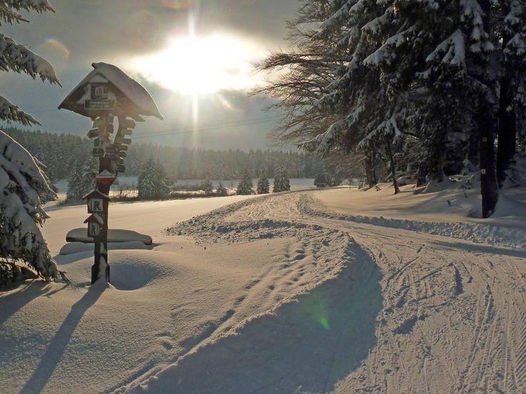 Auch im Winter hat der Thüringer Wald wie hier im Landkreis Gotha am #Rennsteig seinen Reiz. Foto: Claudia Klinger