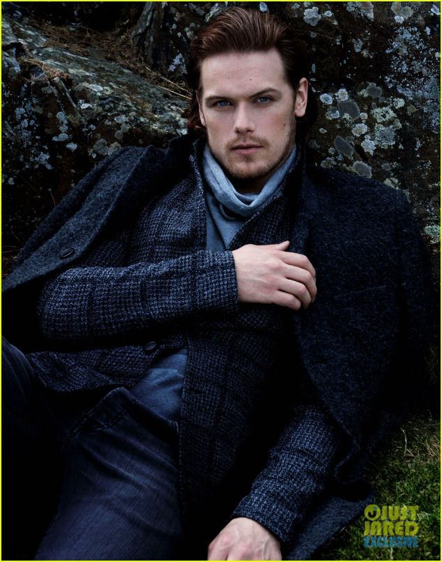 Sam Heughan, currently starring in Starz' Outlander.  Superb casting!  I hope the show goes on for a while, but if not, he's going to have no problem finding work after the amount of exposure he's getting.