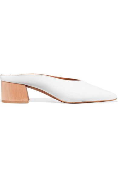 BY FAR - Karen Patent-leather Mules - White