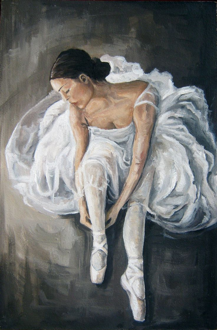 Ballerina, oil painting