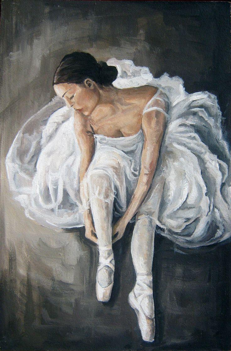 Ballerina, oil painting