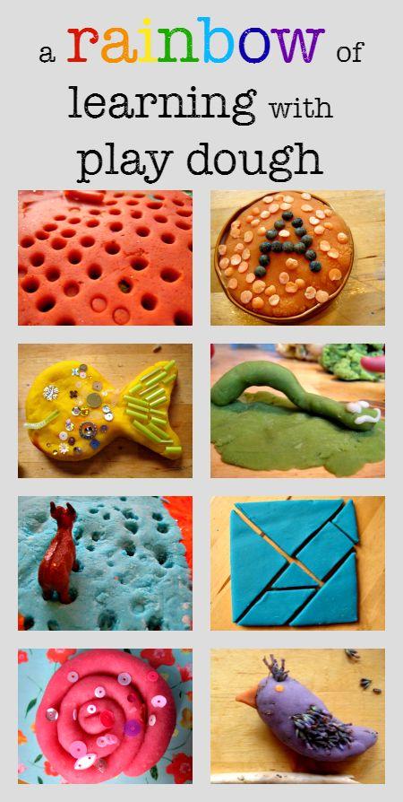 A rainbow of play dough learning activities - 52 fab ideas for sensory play