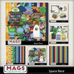SPACE RACE Disney-inspired scrap kit