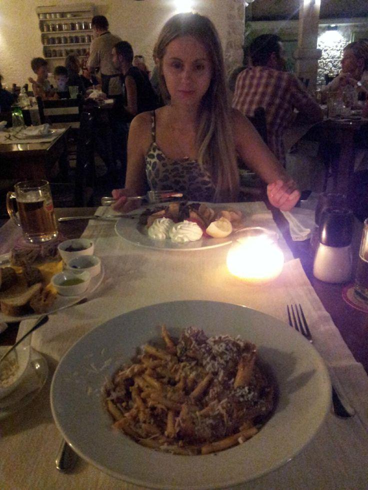 Hmmm! Pastas or dessert first? #AlanaRestaurant #Rethymno #Gastronomy Photo credits: Shrusvil