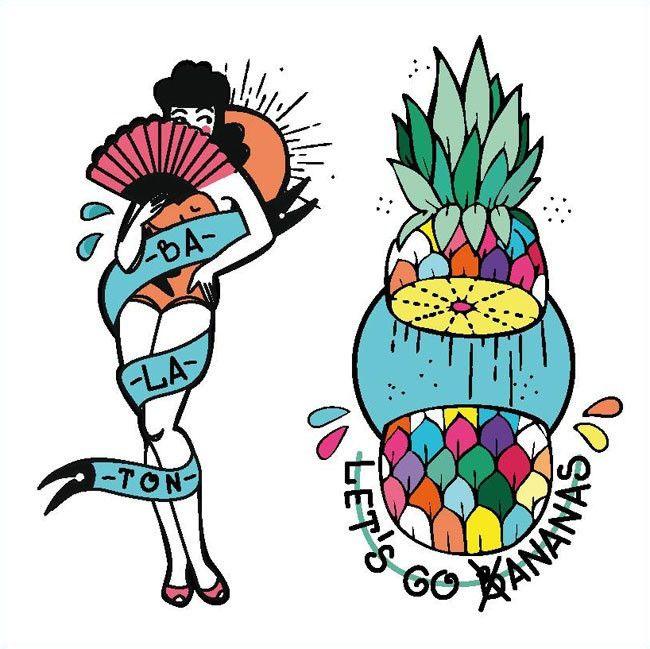 Bananas - Set of 2 – TATZ temporary designer tattoo