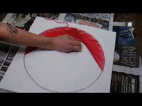 string art video ... also called as nail and thread art