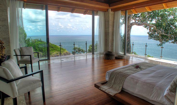 Villa Kamala Bay   Phuket - Schlafzimmer hoch über dem Meer