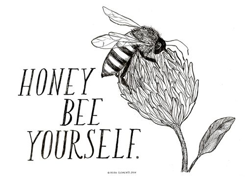 honey bee yourself. Frida Clements Animal Prints - Wall Decor - Country Living