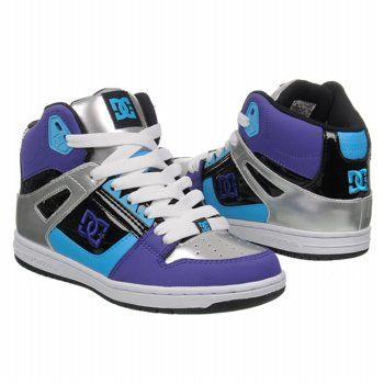 dc shoes for women   Athletics DC Shoes Women's Rebound Hi Black/White/Purple Shoes.com