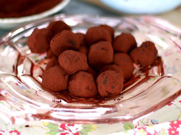 Leilas chokladtryffel med hallon